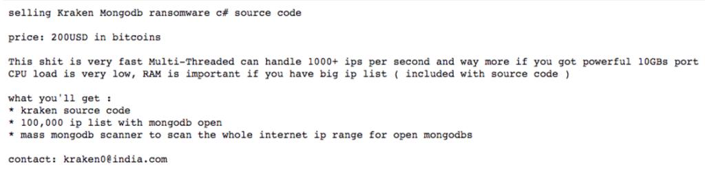 kraken-sell-ransomware-mongodb