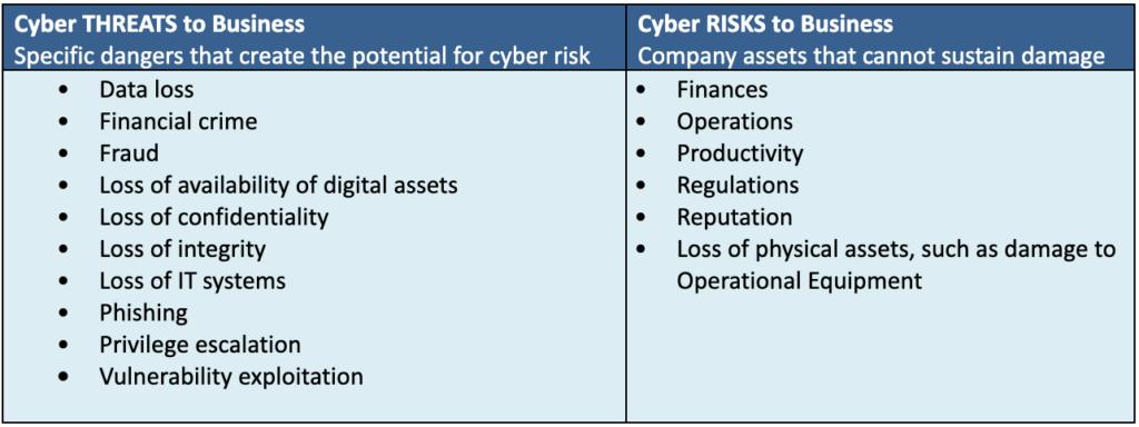 Cyber Threat to Digital Risk